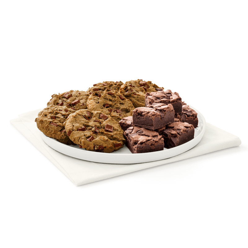 Large Chocolate Chunk Cookie and Chocolate Fudge Brownie Tray