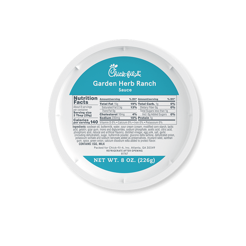8oz Garden Herb Ranch Sauce