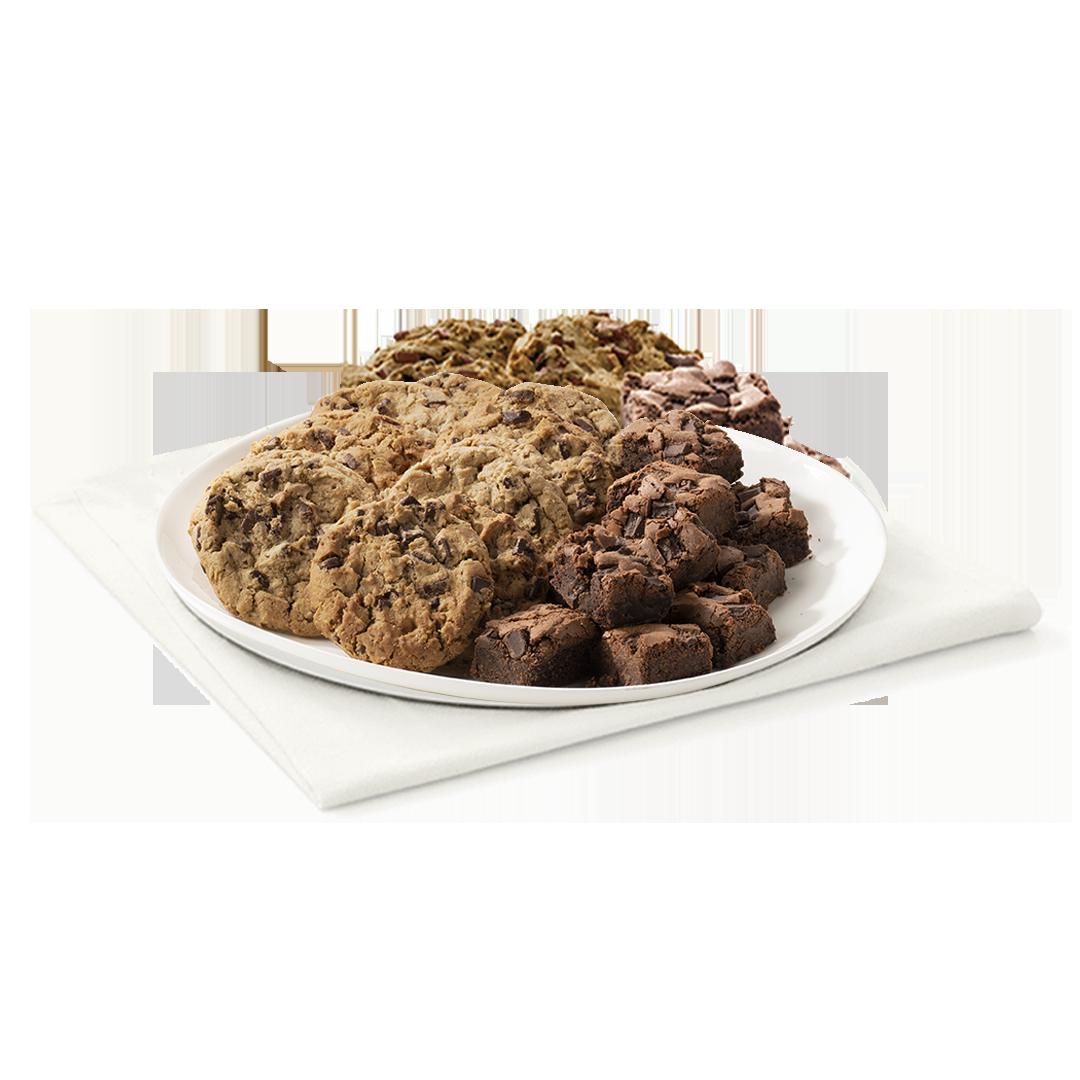 Chocolate Chunk Cookie and Chocolate Fudge Brownie Tray